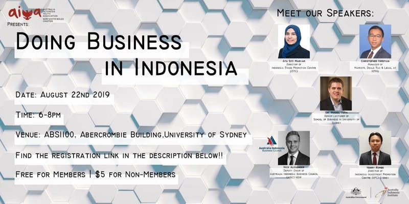 AIBC NSW: Doing Business in Indonesia 2019 AIYA Event